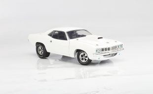 Supercar Collectibles 1971 Plymouth Barracuda Pro Stock White Chase Version