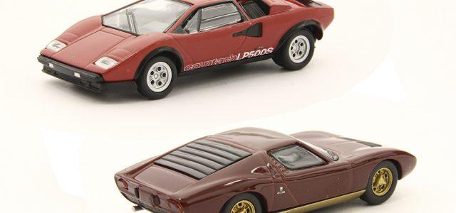 Kyosho 1:64 Lamborghini Miura P400 and Countach LP500S